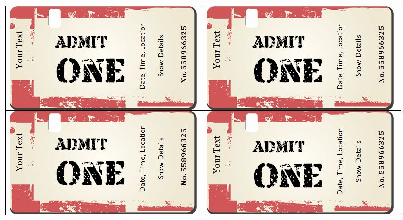 Concert Tickets Template Free Elegant 6 Ticket Templates for Word to Design Your Own Free Tickets