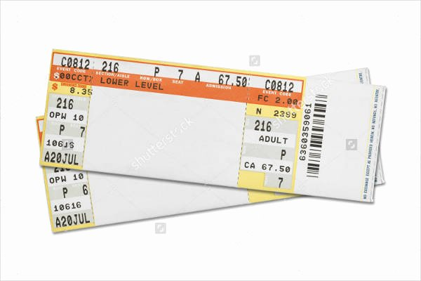 Concert Tickets Template Free Luxury 37 Ticket Templates Download