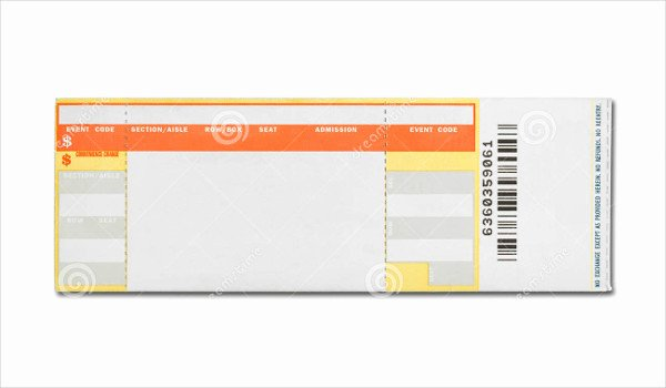 Concert Tickets Template Free New 16 Concert Ticket Templates Psd Vector Eps