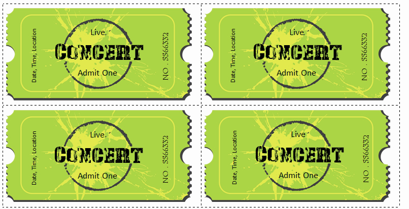 Concert Tickets Template Free New 6 Ticket Templates for Word to Design Your Own Free Tickets