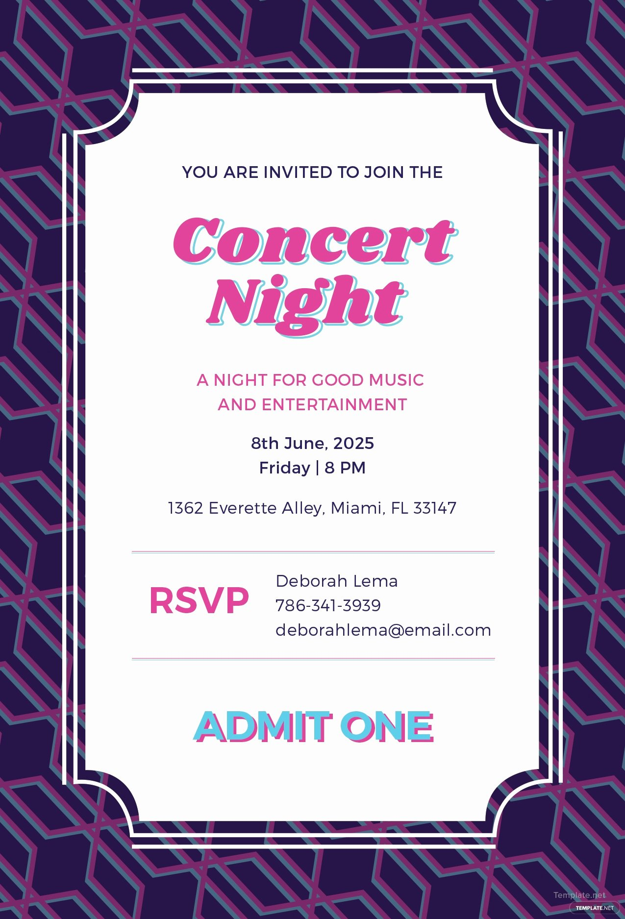 Concert Tickets Template Free New Free Concert Ticket Invitation Template In Adobe Shop