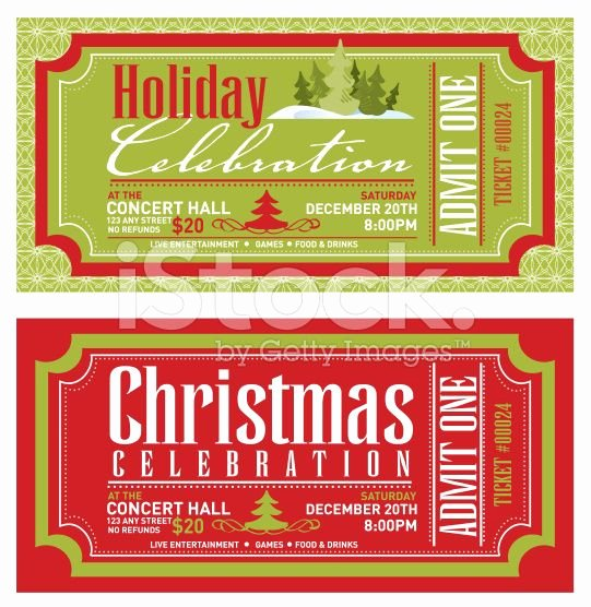 Concert Tickets Template Free New Set Of Christmas Concert Tickets Templates Royalty Free