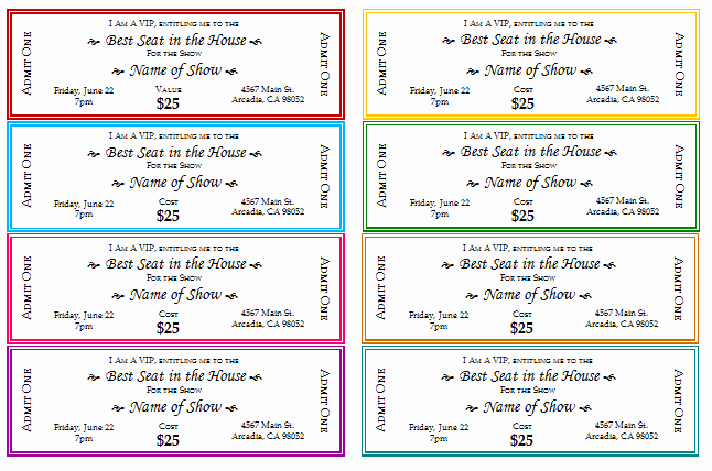 Concert Tickets Template Free Unique 12 Free event Ticket Templates for Word Make Your Own