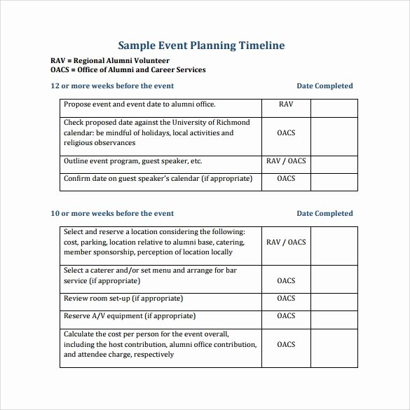 Conference Planning Timeline Template Fresh 9 event Timeline Templates Samples Examples format