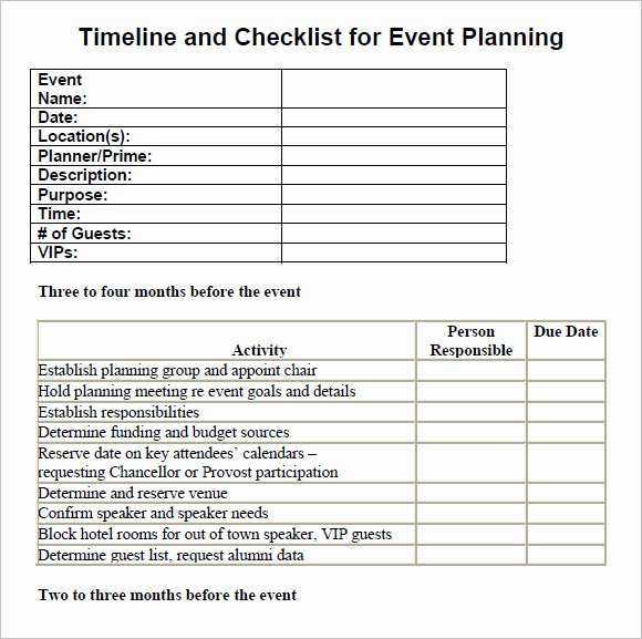Conference Planning Timeline Template Unique 13 Sample event Planning Checklist Templates
