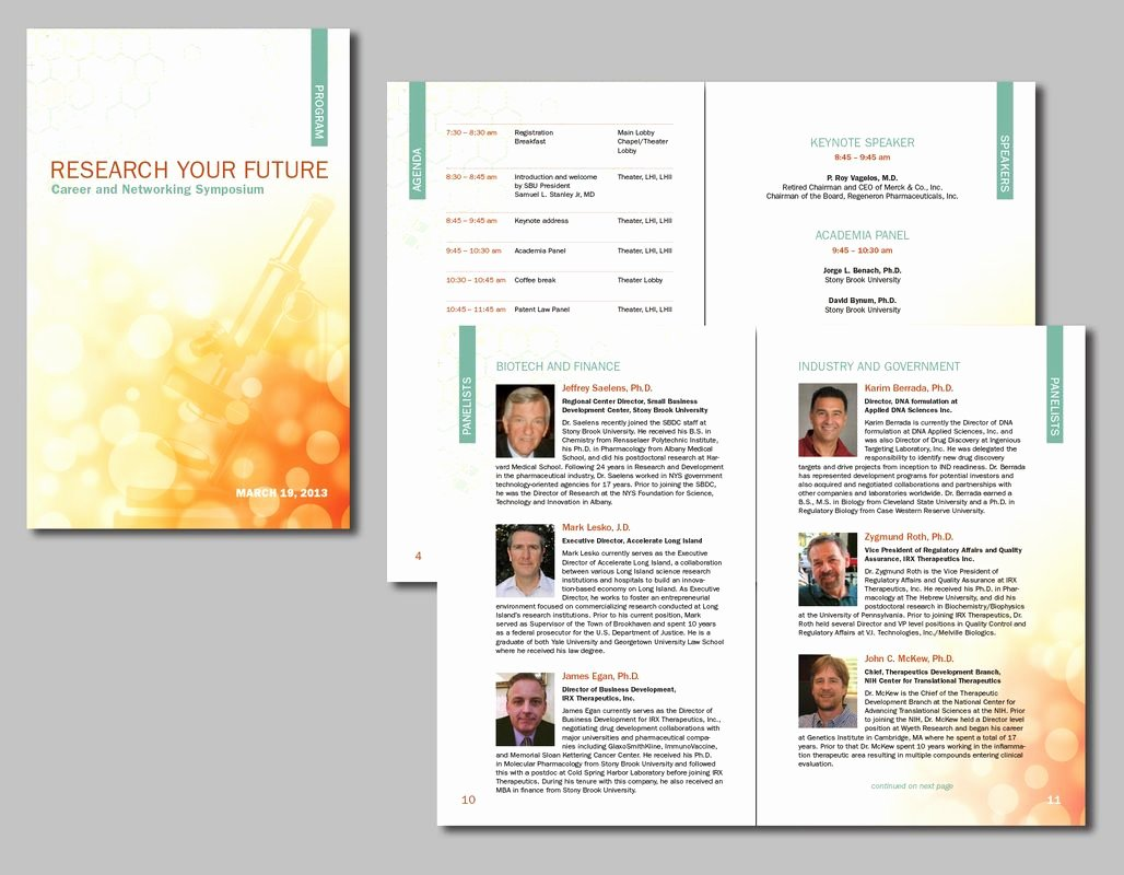 Conference Program Book Template Beautiful Brochures & Flyers Bowman Illustration and Design