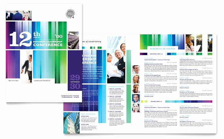 Conference Program Book Template Elegant Business Leadership Conference Brochure Template Word