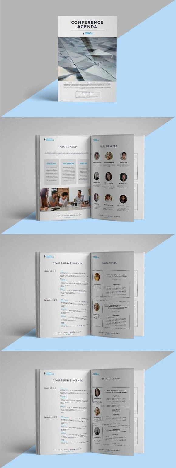 Conference Program Booklet Template Fresh Conference Agenda Brochure