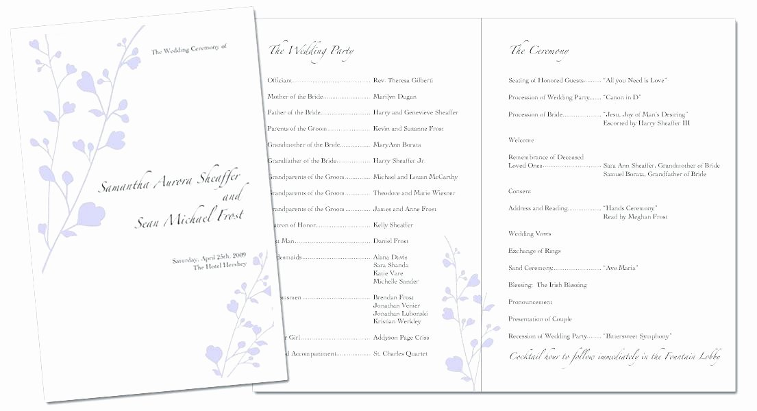 Conference Program Booklet Template Lovely event Program Booklet Template the Music Invitation Will