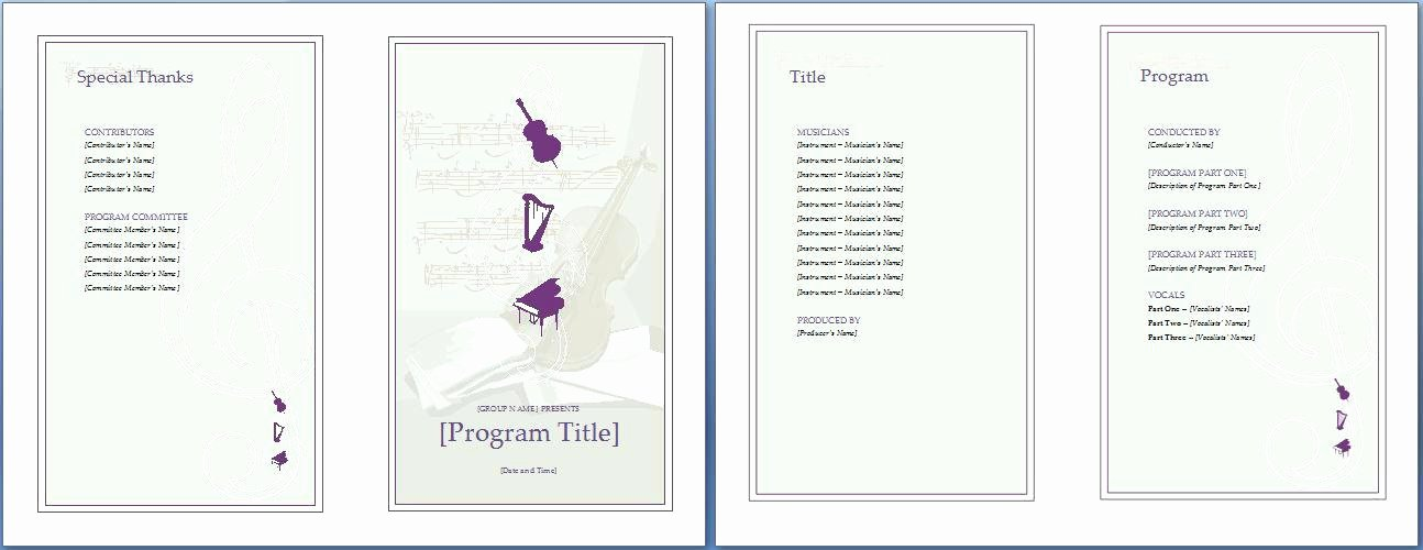 Conference Program Booklet Template New event Program Booklet Template the Music Invitation Will