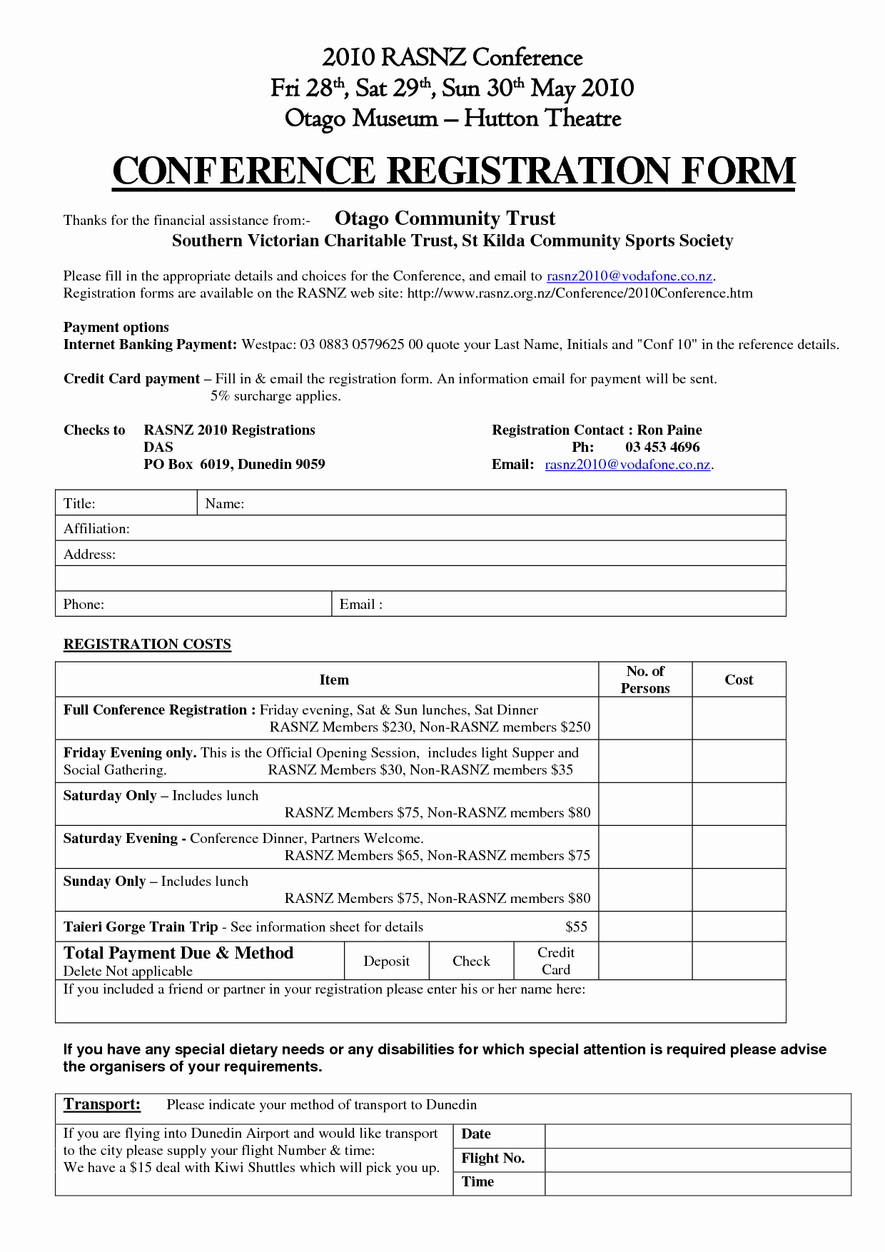 Conference Registration forms Template Awesome Sample Conference Registration form Seven Facts You Never