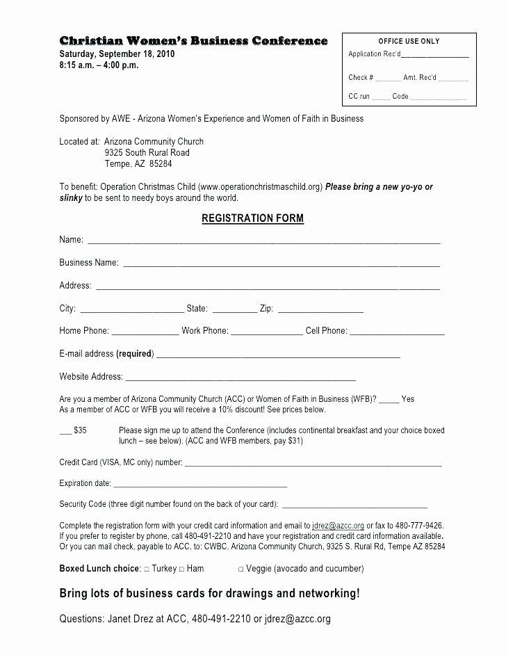 Conference Registration forms Template Best Of Conference Registration form Template Word – Haydenmedia