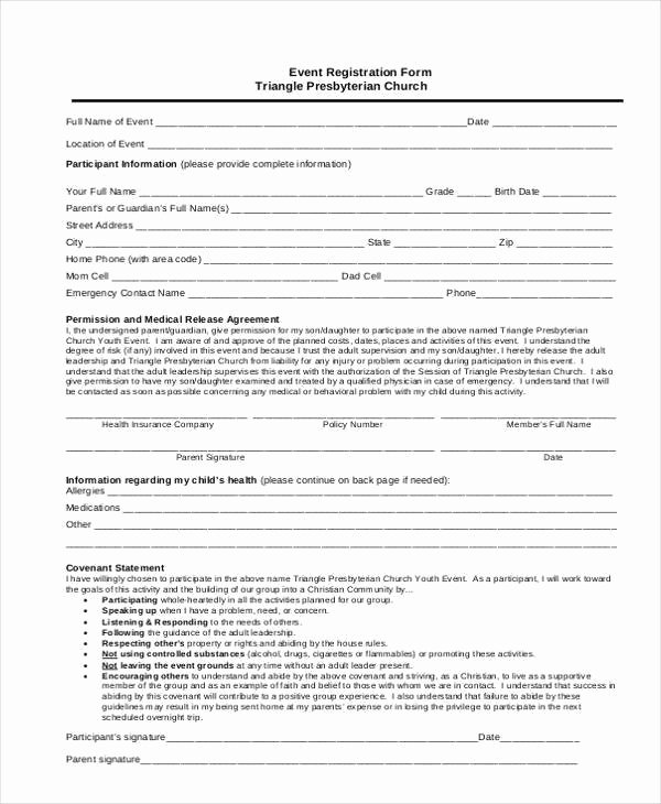 Conference Registration forms Template Elegant Registration form Templates