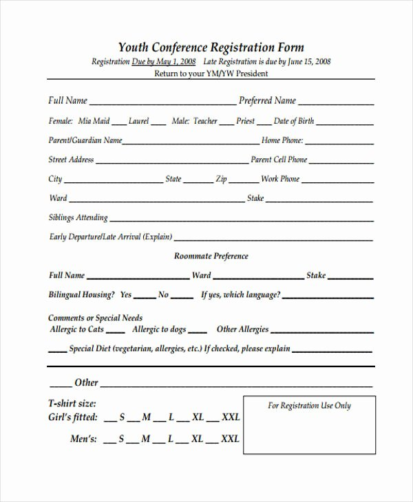 Conference Registration forms Template Inspirational 21 Conference Registration forms