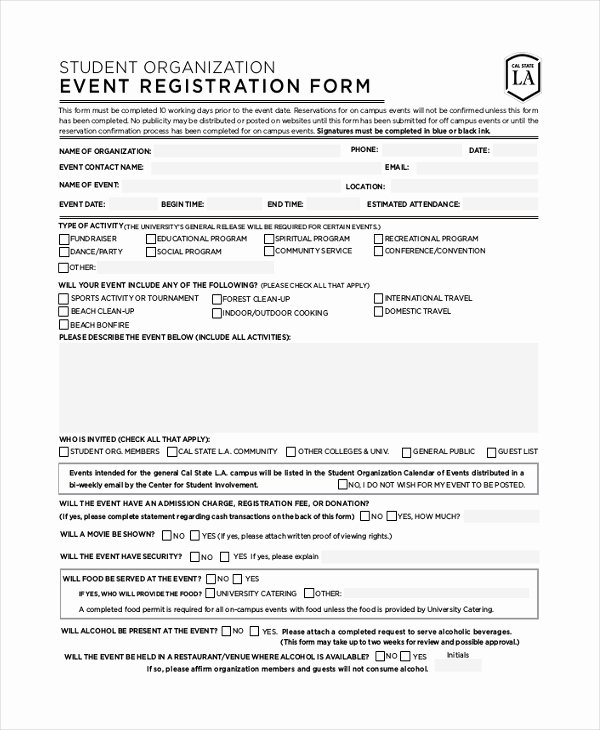 Conference Registration forms Template Luxury Health Fair Registration form Template