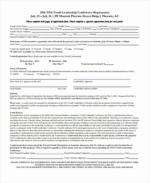 Conference Registration forms Template New 23 Conference Registration form Templates