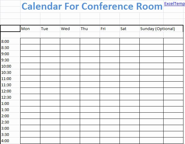 Conference Room Schedule Template Luxury Conference Room Calendar