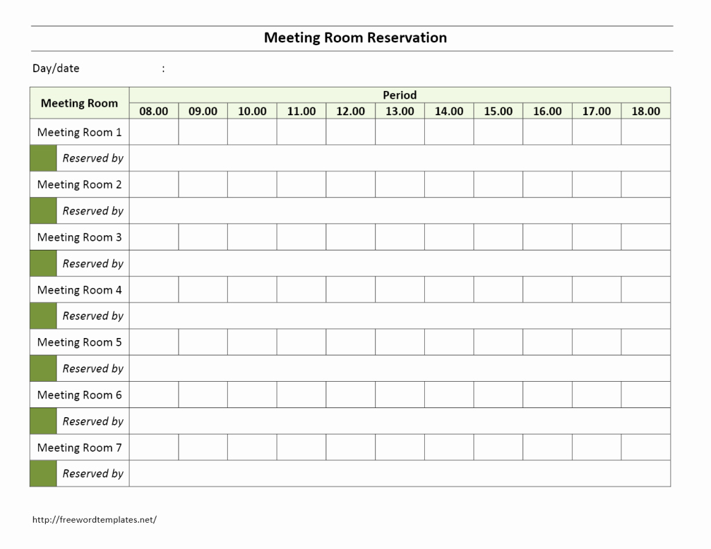 Conference Room Scheduler Template Beautiful Meeting Room Reservation form