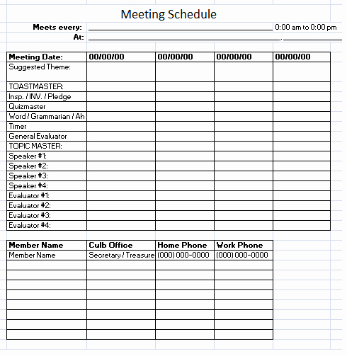 Conference Room Scheduler Template Inspirational Meeting Schedule Template 10 Free Templates Schedule