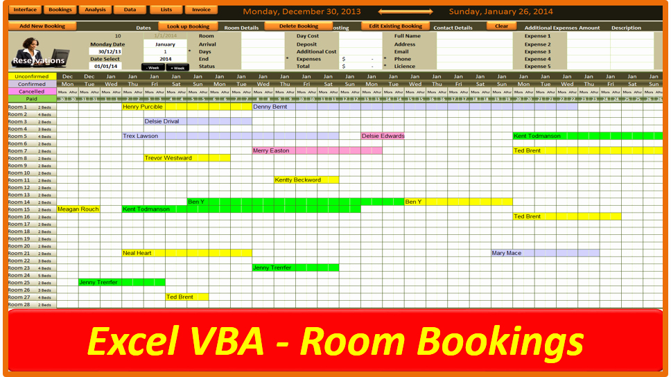 Conference Room Scheduling Template Awesome Excel Room Booking System Line Pc Learning