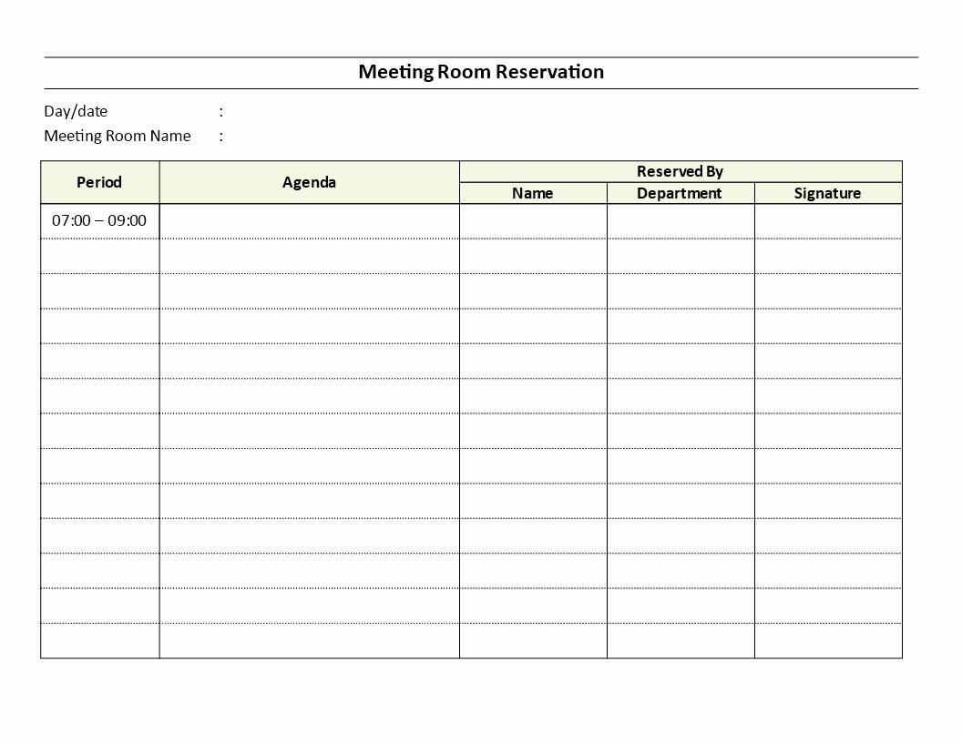 Conference Room Scheduling Template Best Of Meeting Room Reservation Sheet Download This Meeting