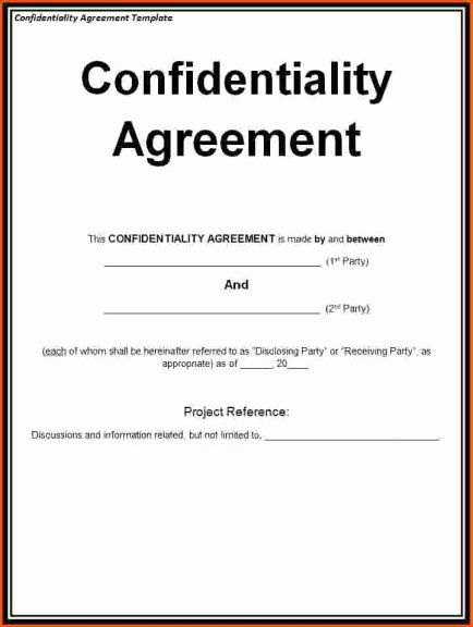 Confidentiality Agreement Template Word Awesome why Should You Sign A Confidentiality form or Nda