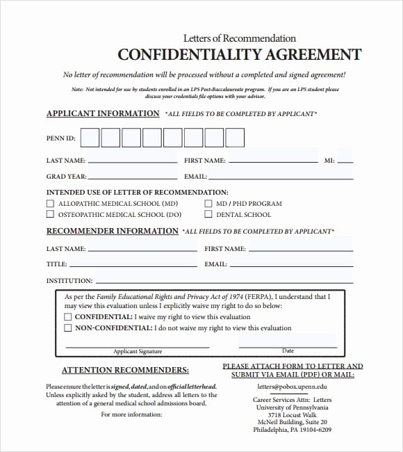 Confidentiality Agreement Template Word Fresh 7 Confidentiality Agreement Templates Word Excel Pdf