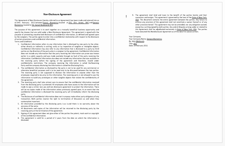 Confidentiality Agreement Template Word Inspirational Confidentiality Contract Template Microsoft Word Templates