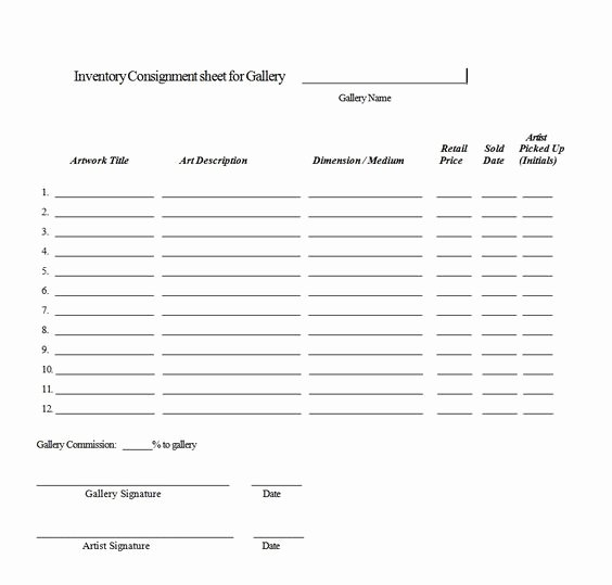 Consignment Agreement Template Free Inspirational Consignment Agreement form Templates Excel Template