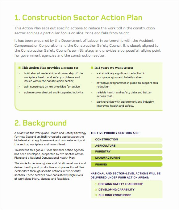 Construction Business Plan Template Fresh 11 Sample Construction Business Plan Templates to