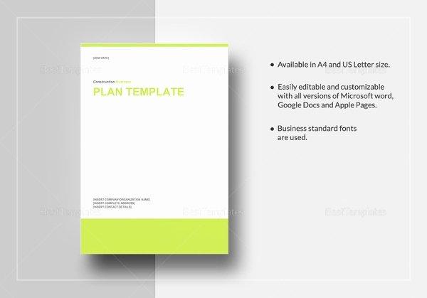 Construction Business Plan Template Unique Construction Business Plan Template 12 Free Word Excel