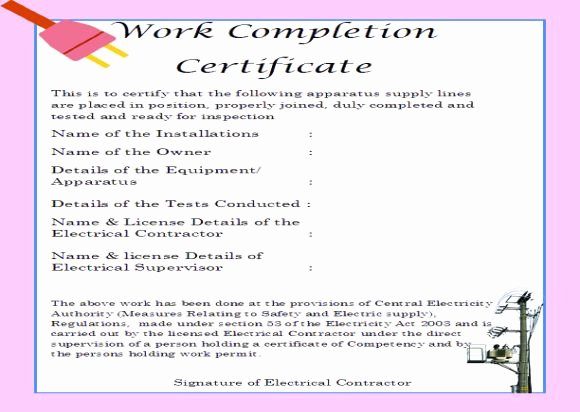 Construction Completion Certificate Template Beautiful 16 Construction Certificate Of Pletion Templates