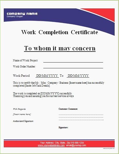 Construction Completion Certificate Template Fresh Work Pletion Certificate Letter format – thepizzashop