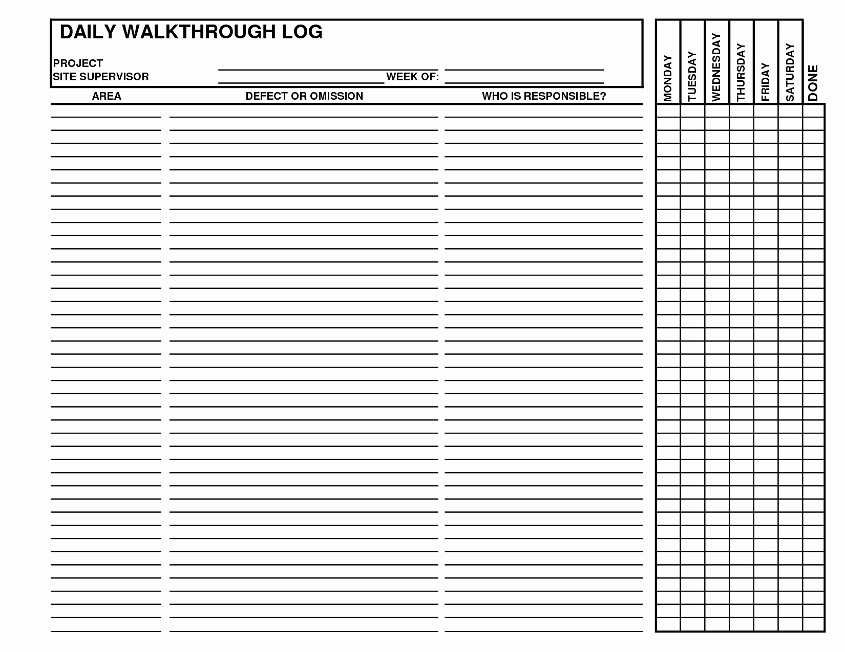 Construction Daily Log Template Luxury Best S Of Daily Log Examples Daily Log Book