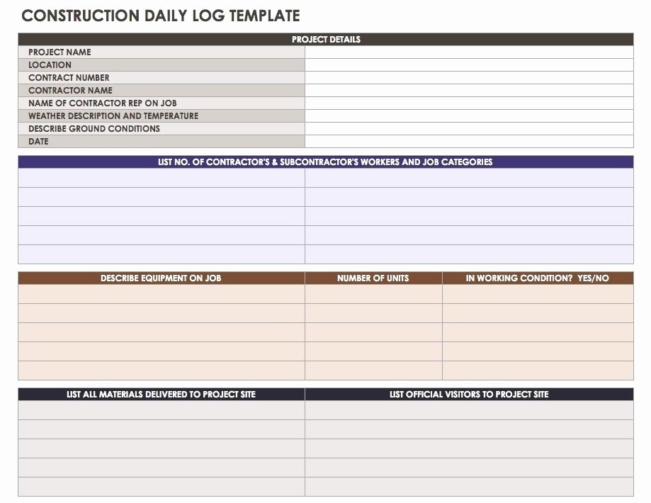 Construction Daily Report Template Best Of Construction Daily Report Template format