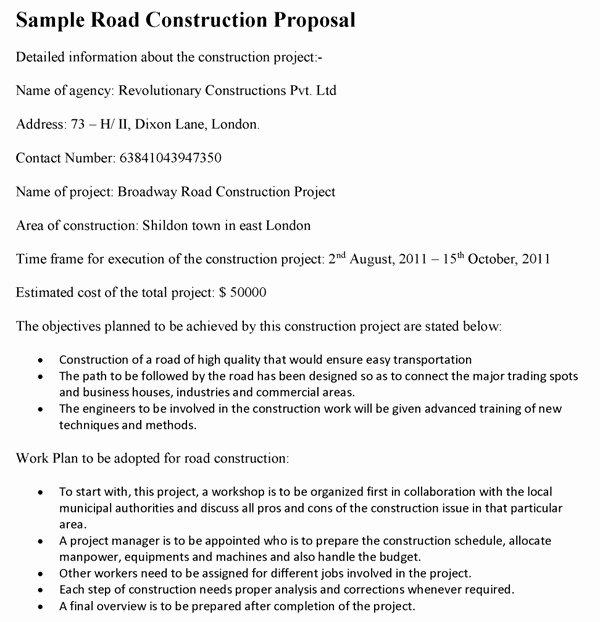 Construction Job Proposal Template Elegant Construction Job Proposal Sample Templates Resume
