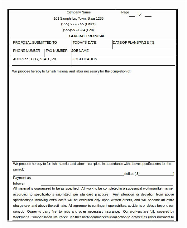 Construction Job Proposal Template Fresh 15 Contractor Proposal Templates Free Word Pdf format