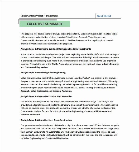Construction Job Proposal Template Unique Construction Proposal Templates 19 Free Word Excel