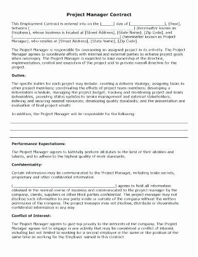 Construction Management Contract Template Luxury Construction Project Management Agreement Template