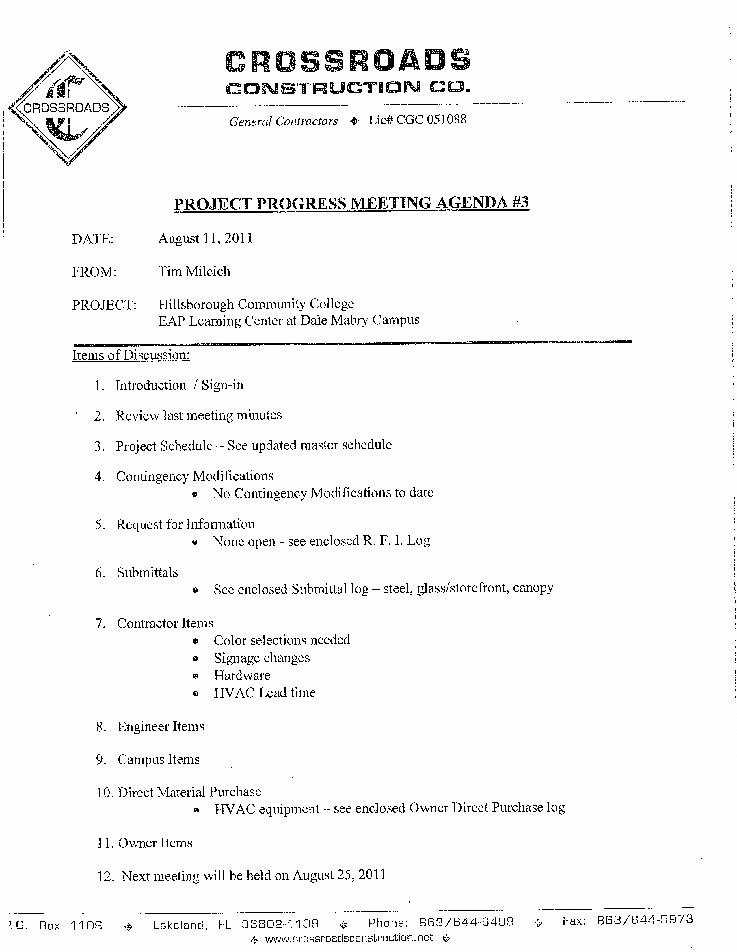 Construction Meeting Agenda Template Awesome Free Project Progress Meeting Agenda