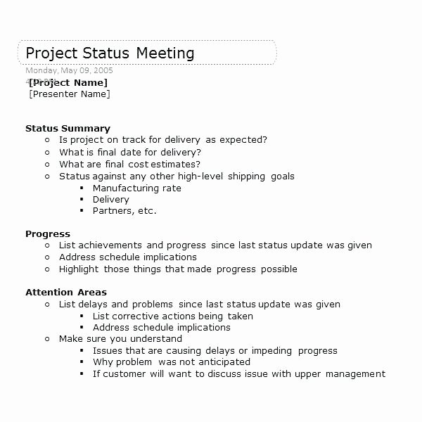 Construction Meeting Agenda Template Best Of Keep Your Next Project Status Meeting Track