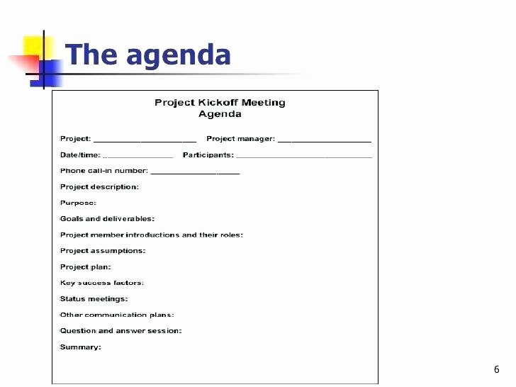 Construction Meeting Agenda Template Inspirational Project Agenda Template – Tangledbeard
