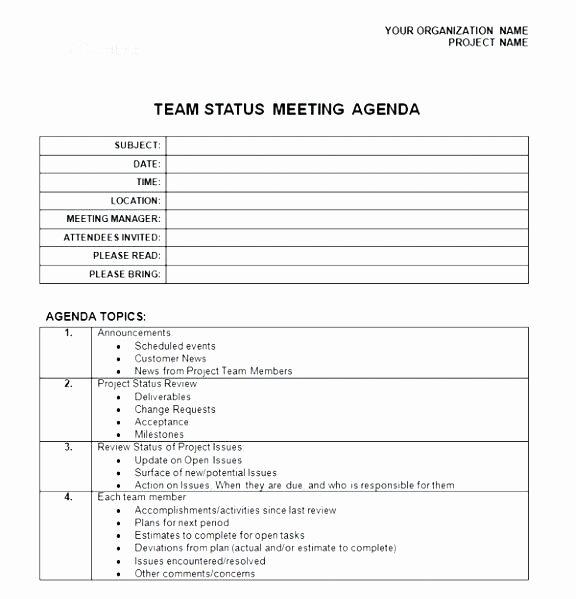 Construction Meeting Agenda Template Luxury Steering Mittee Agenda Template Project Management