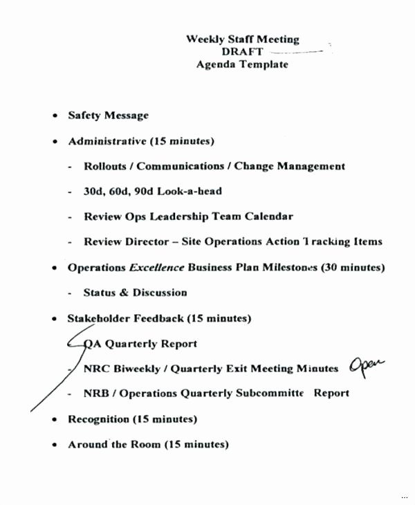 Construction Meeting Agenda Template New Construction Meeting Minutes Template Frank and Pre Start Site
