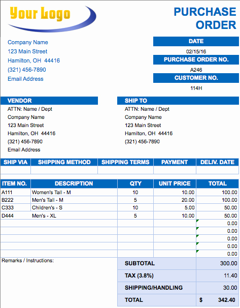 Construction Purchase order Template Lovely Free Excel Invoice Templates Smartsheet