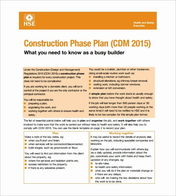 Construction Safety Plan Template Best Of 11 Health and Safety Plan Templates Google Docs Ms