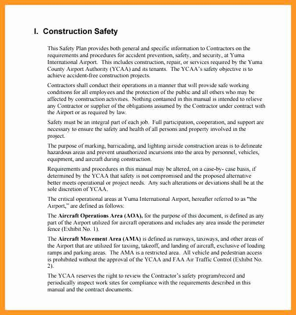 Construction Safety Plan Template Lovely 2 3 Site Safety Plan