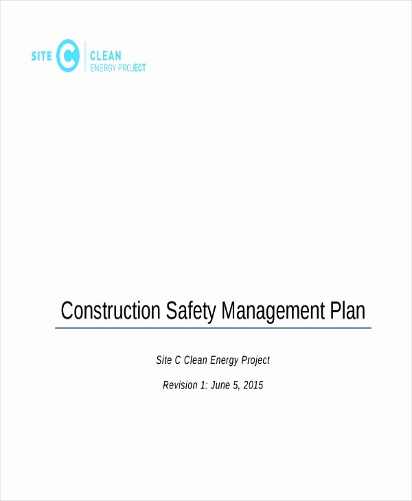 Construction Safety Plan Template Luxury 29 Safety Plan Samples
