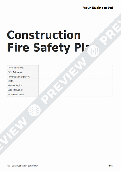 Construction Safety Plan Template New Construction Fire Safety Plan Fire Template Haspod