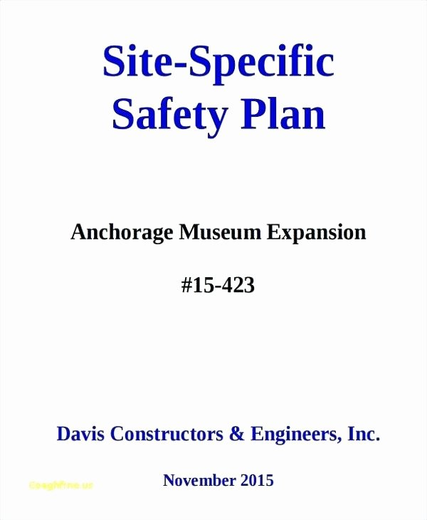 Construction Safety Plan Template New Printable Construction Site Specific Safety Plan Template